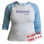 George Washington on Honor - Quote T Shirt