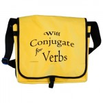 Will Conjugate for Verbs messenger bag