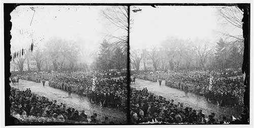 The crowd at Lincoln's second inauguration