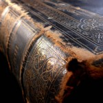 weathered antique book