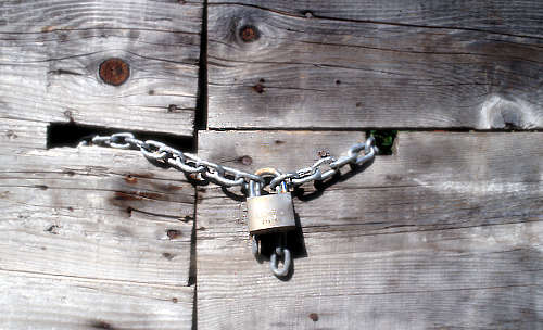 padlocked wooden door & We simply need to believe in the power that\u0027s within us and use ... Pezcame.Com