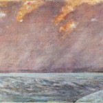 Giovanni Fattori sunset at sea