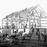 barn raising 1907