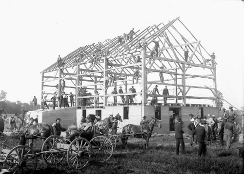 barn raising 1908
