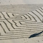 maze on a beach