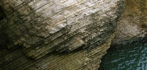 eroding seaside cliff