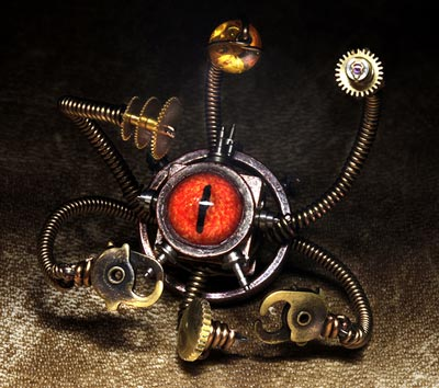 steampunk robot ring