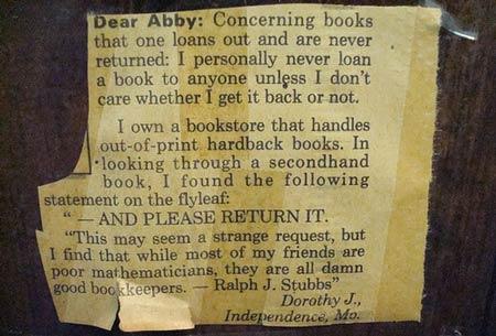 Dear Abby clipping