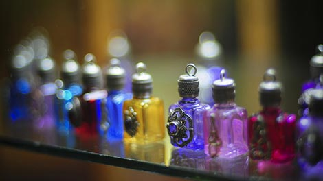 rainbow colored bottles