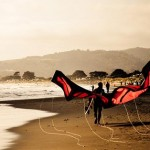 sunset beach kites