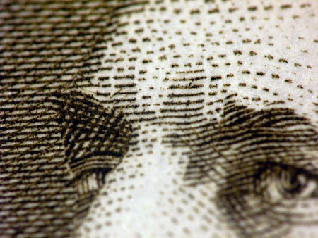 close-up of paper money